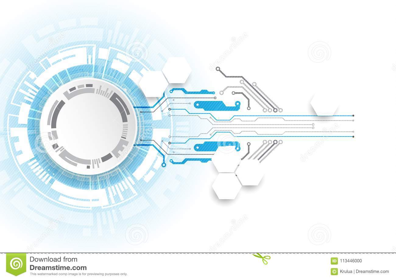 Abstract technology circuit board. Communication concept