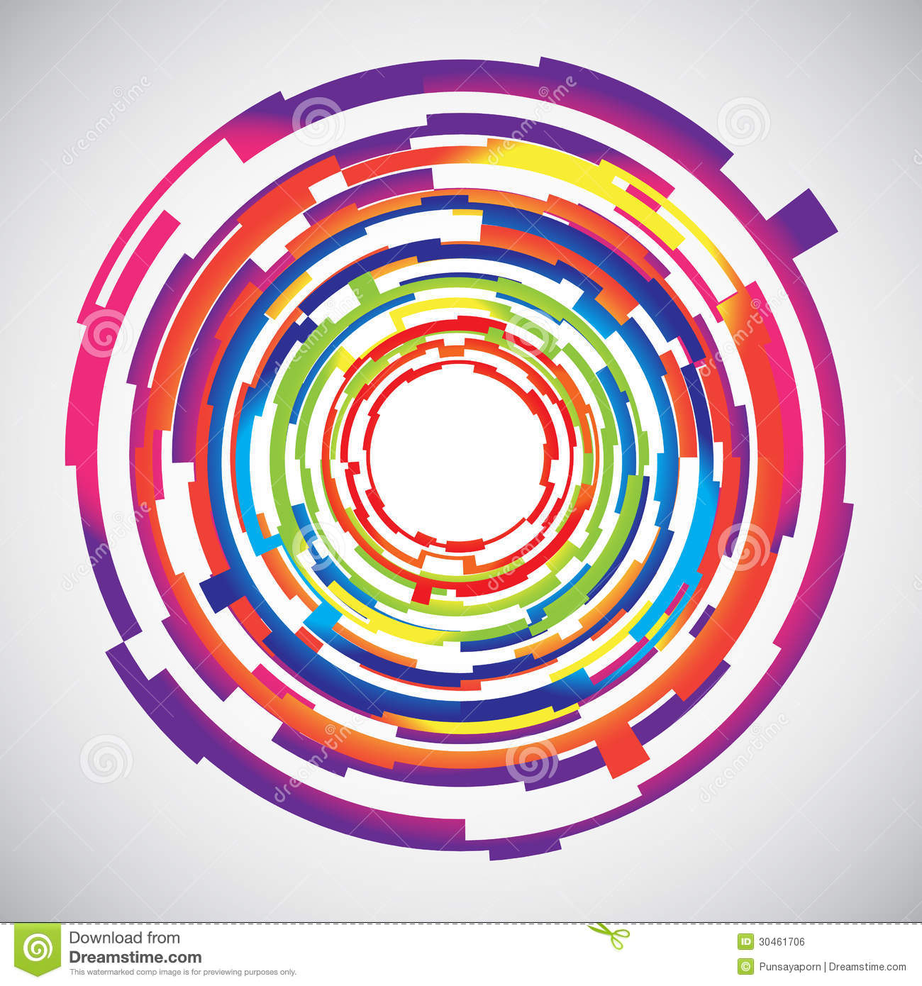 Abstract Rainbow Spiral, Colorful Background. Stock Vector - Image ...