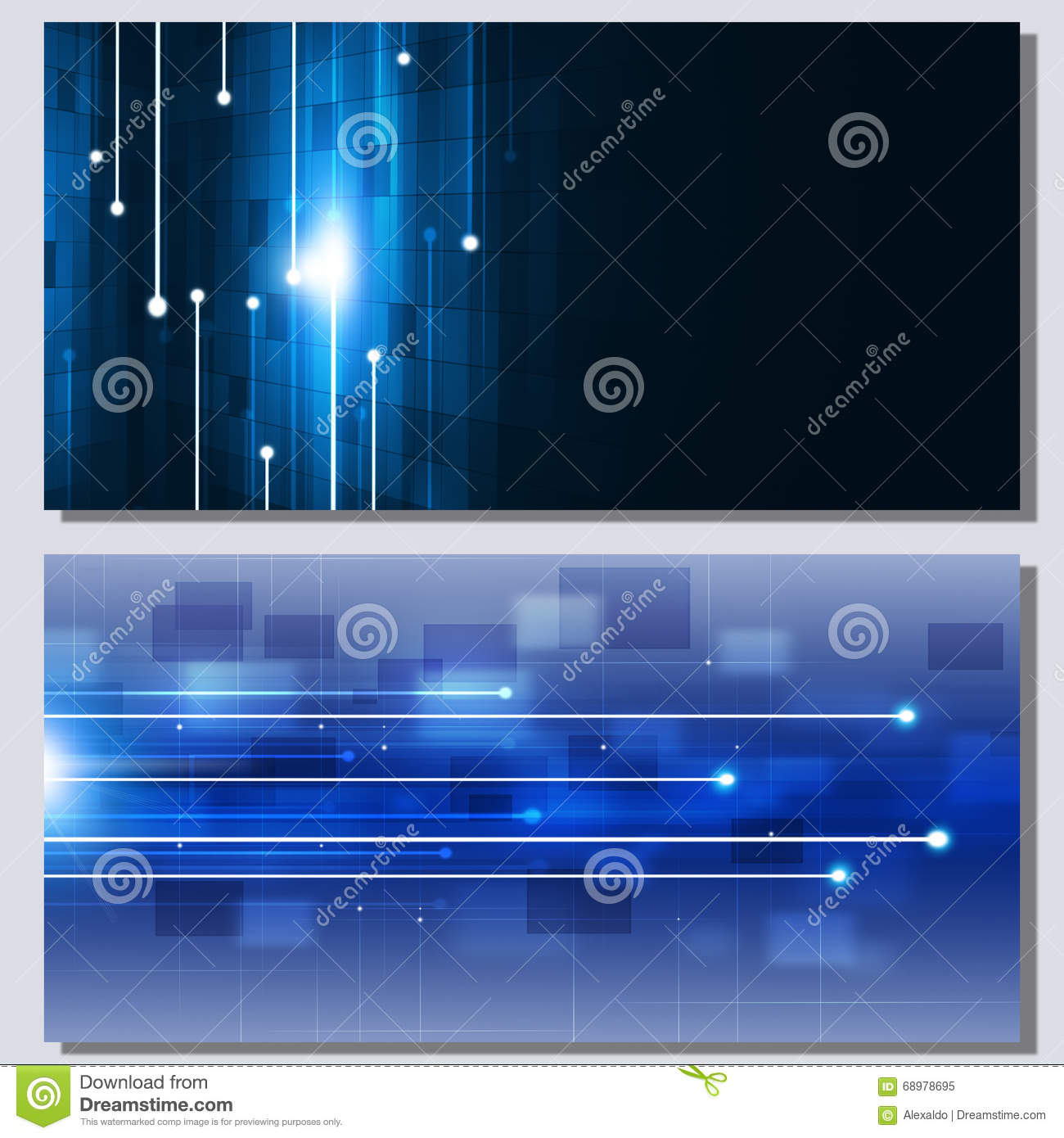 Abstract Technology Communication Banners