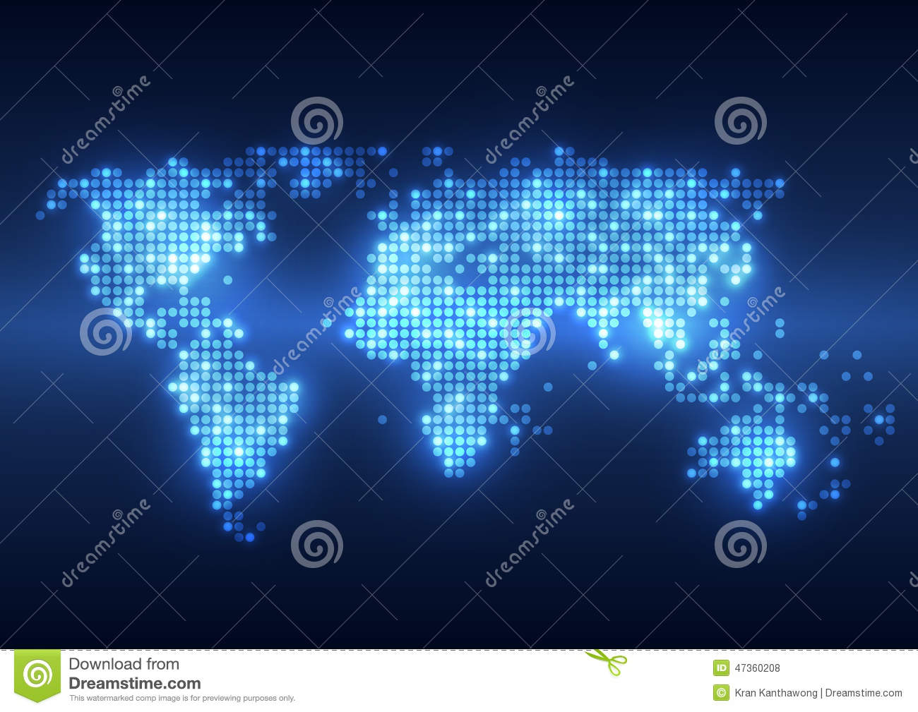 Abstract Technology Digital Backgrounds With Earth Map Stock Vector ...