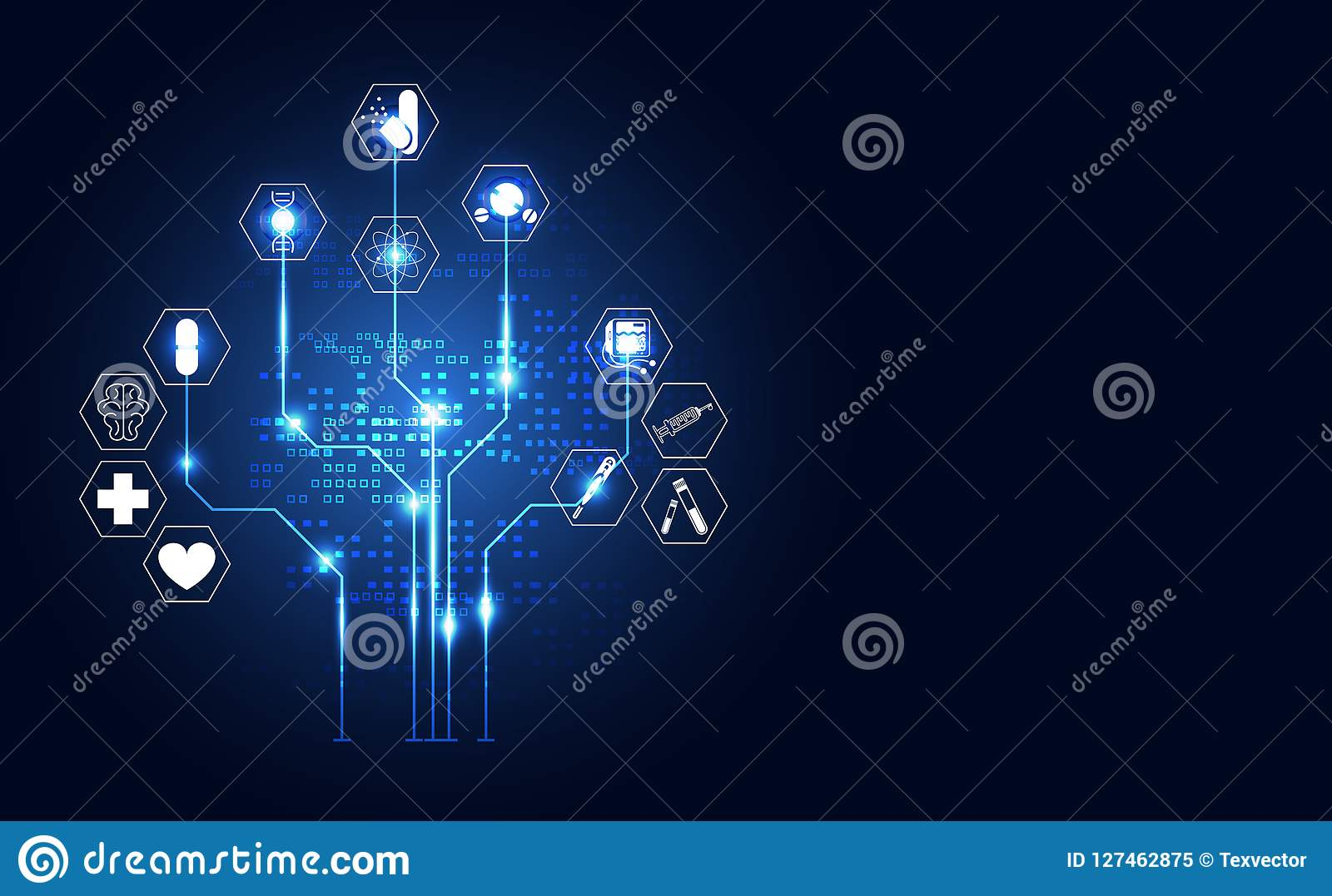 Abstract technology digital health medical concept icon digital