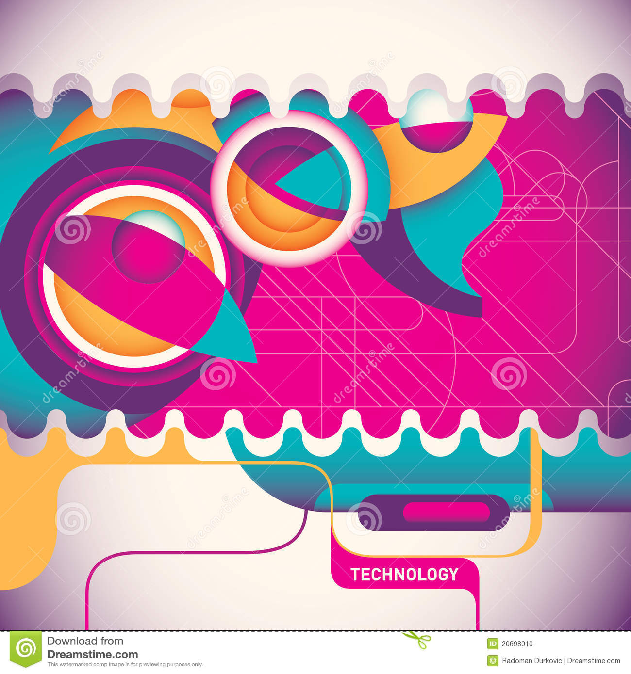 Abstract Technology Poster. Stock Photo - Image: 20698010