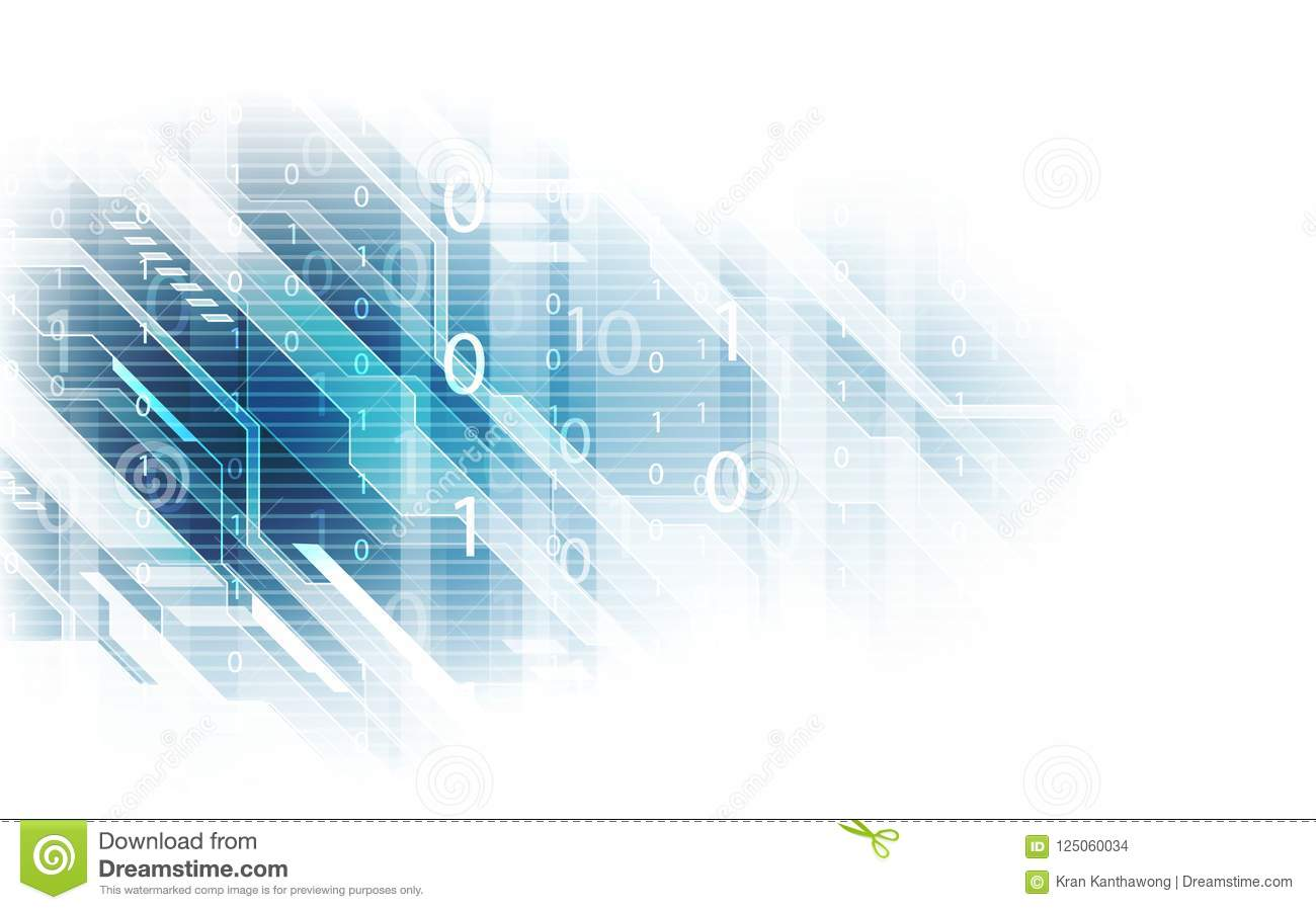 Abstract technology security data network background, vector illustration