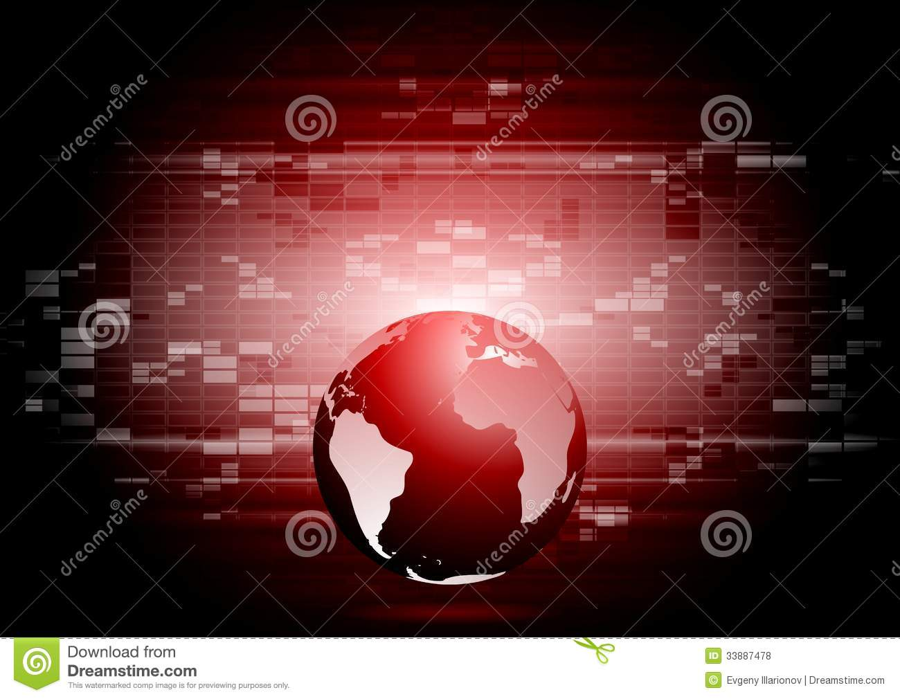 Abstract Technology World Globe Backdrop Stock Vector ...