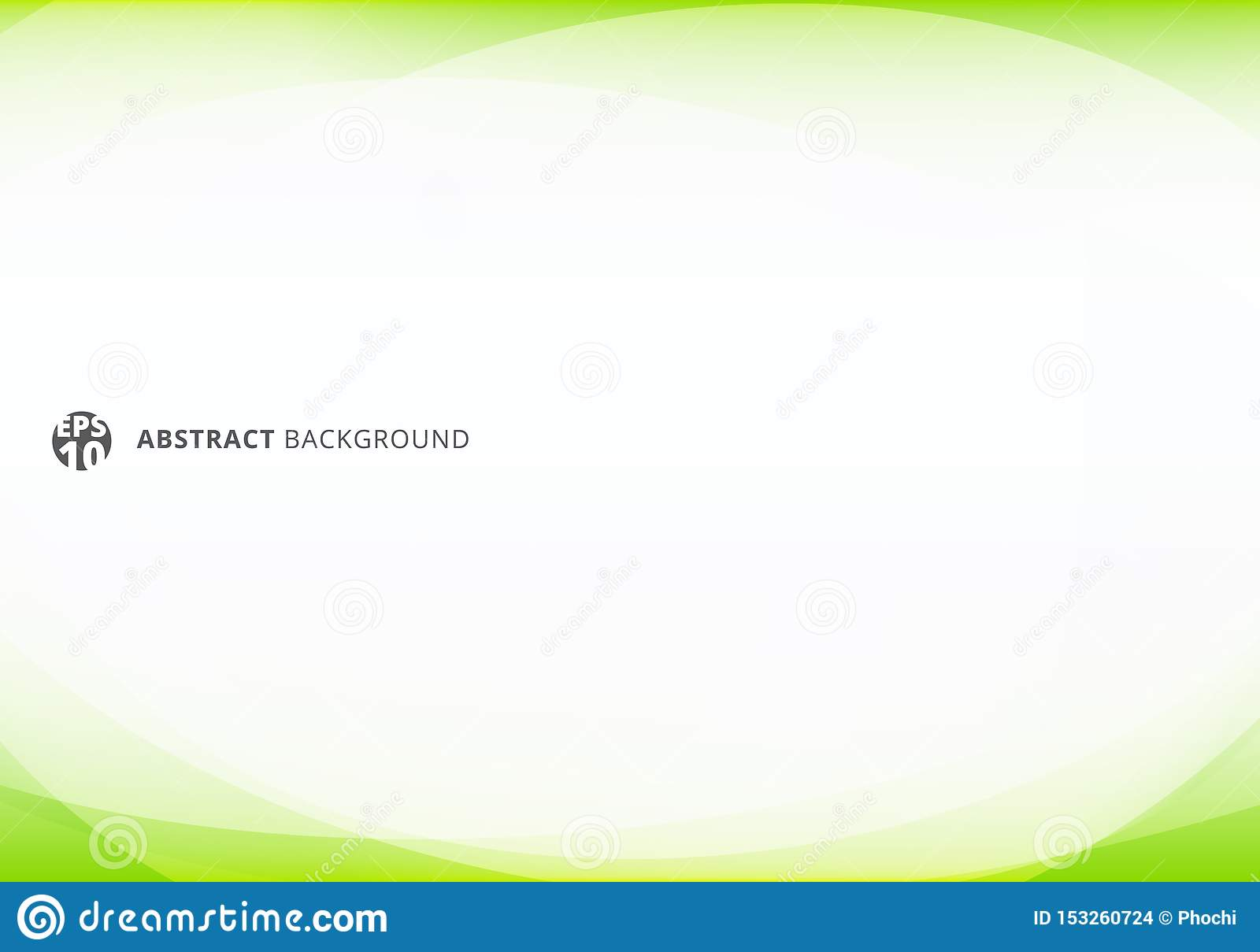 Abstract template elegant header and footers green lime curve light template on white background with copy space