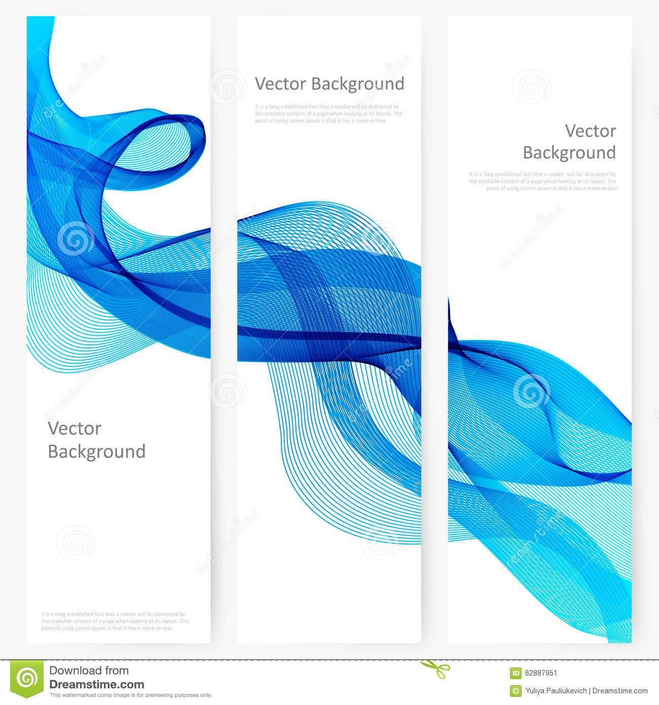 abstract template vertical banner stock vector illustration of