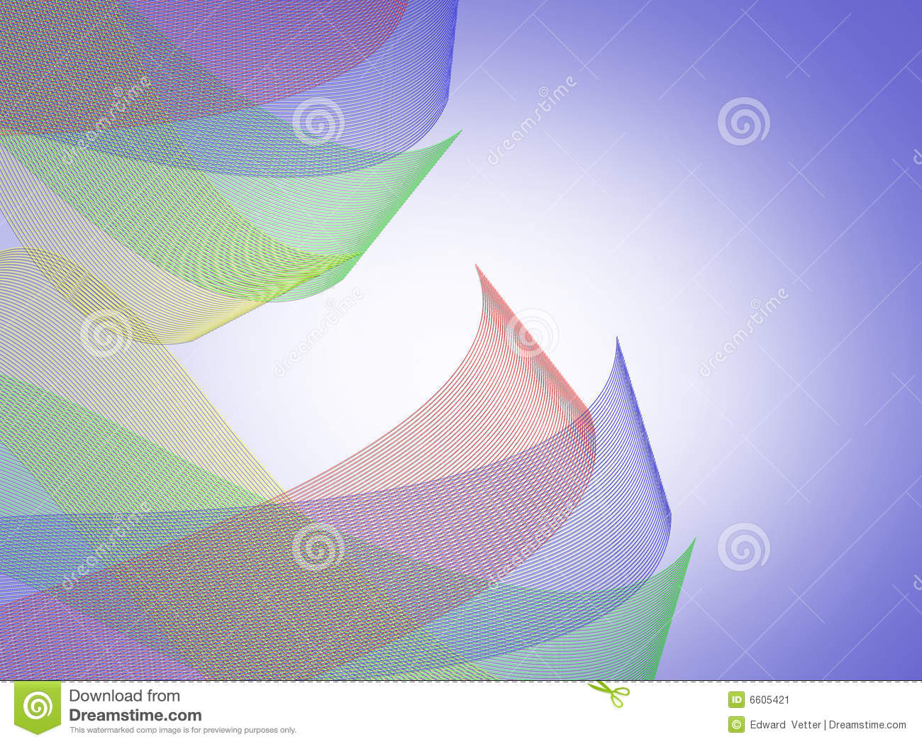 Abstract Textile Waves Of Color Stock Image