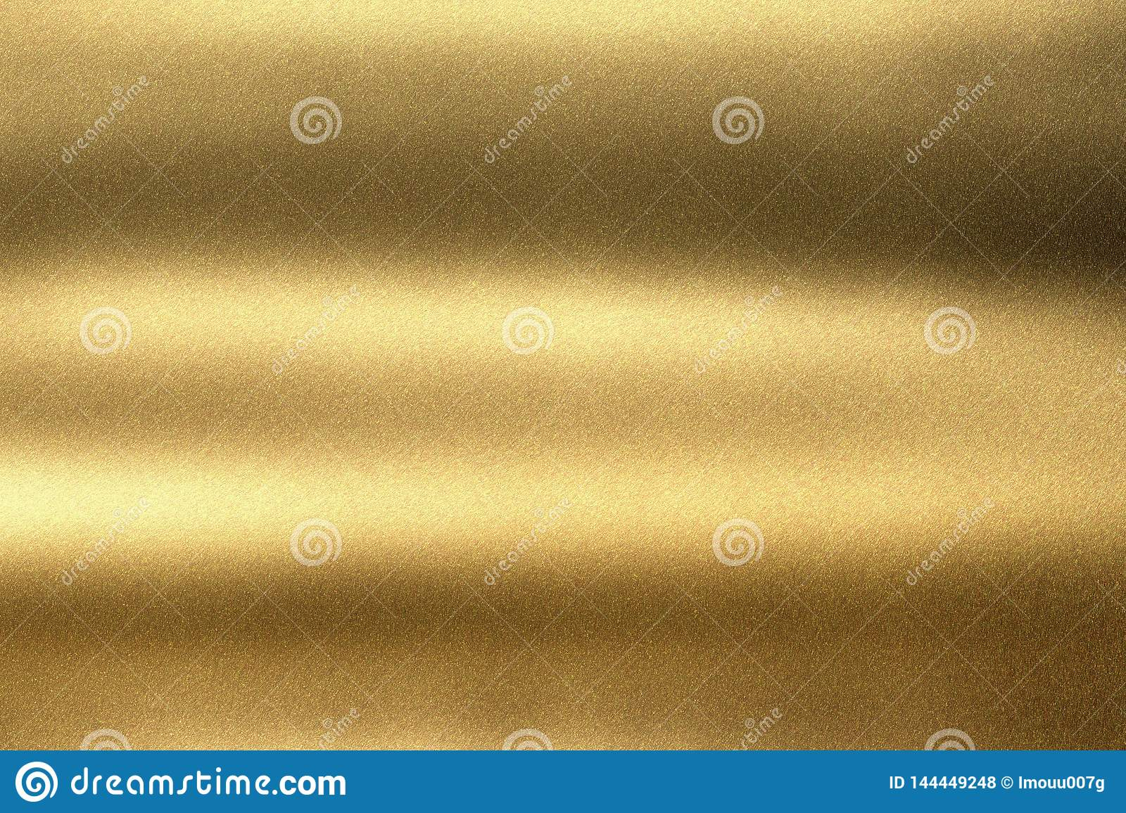 Abstract texture background, light shining on gold corrugated metal