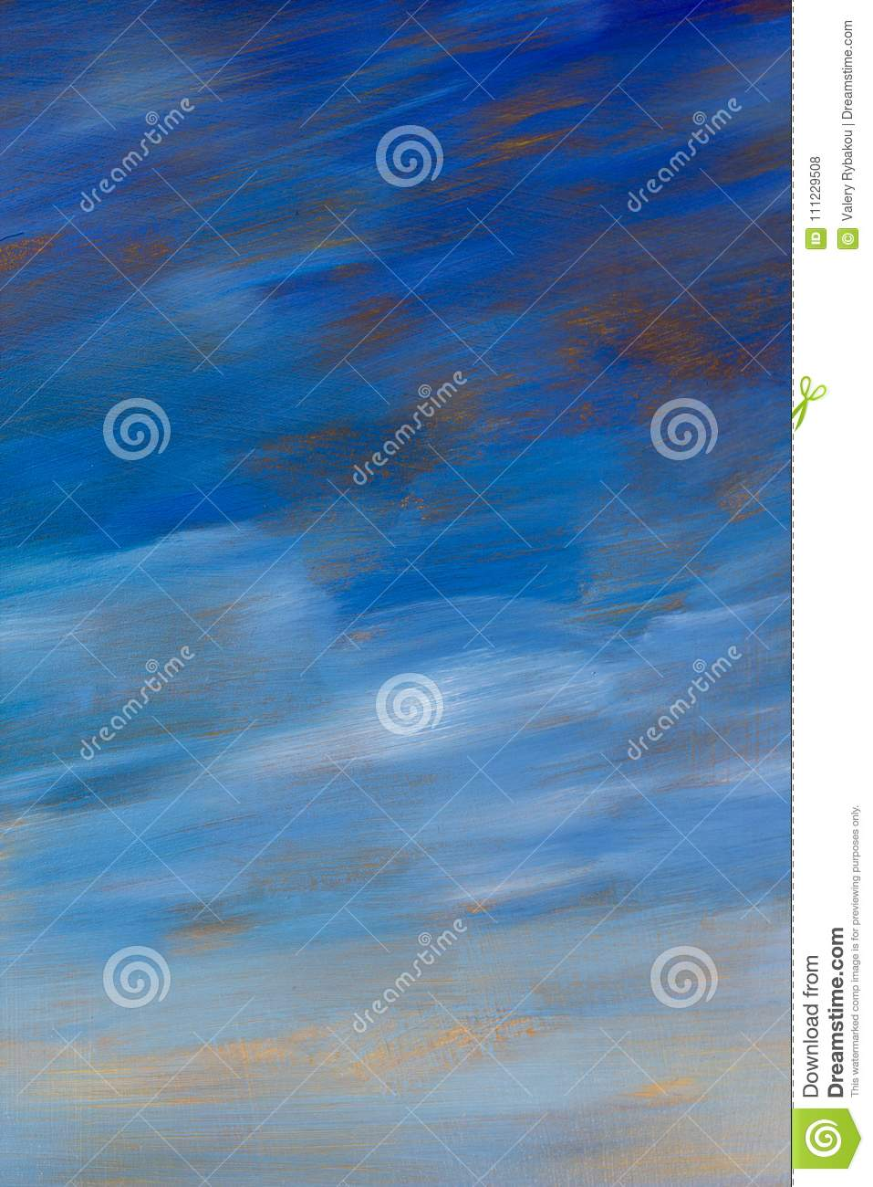 Abstract texture blue sky oil painting background. Closeup macro Hand drawn artwork.