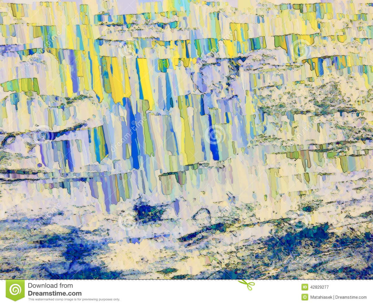 Abstract Textured Background In Blue Yellow Spectrum Stock Image