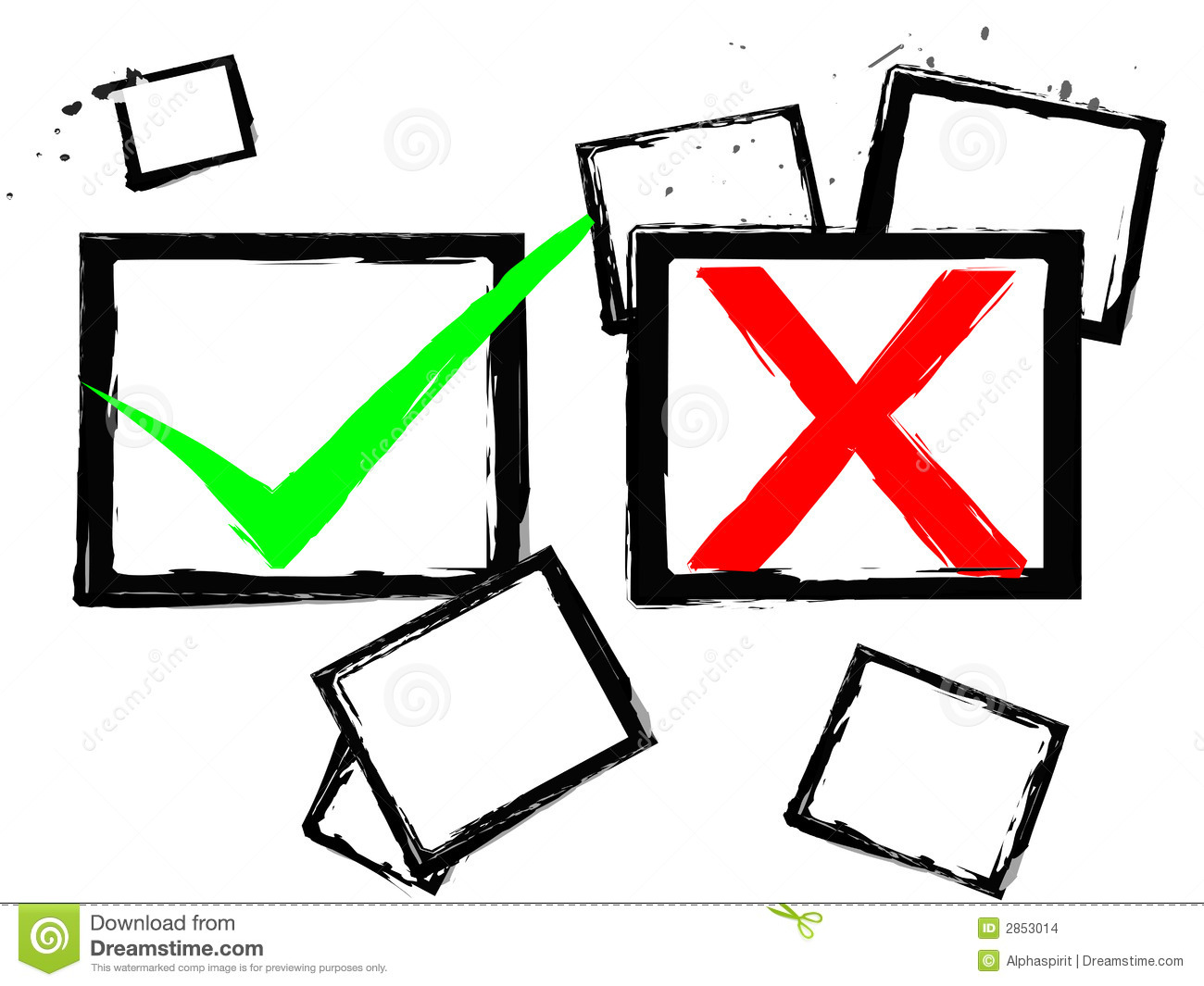 Abstract Tick True False Stock Images Image 2853014