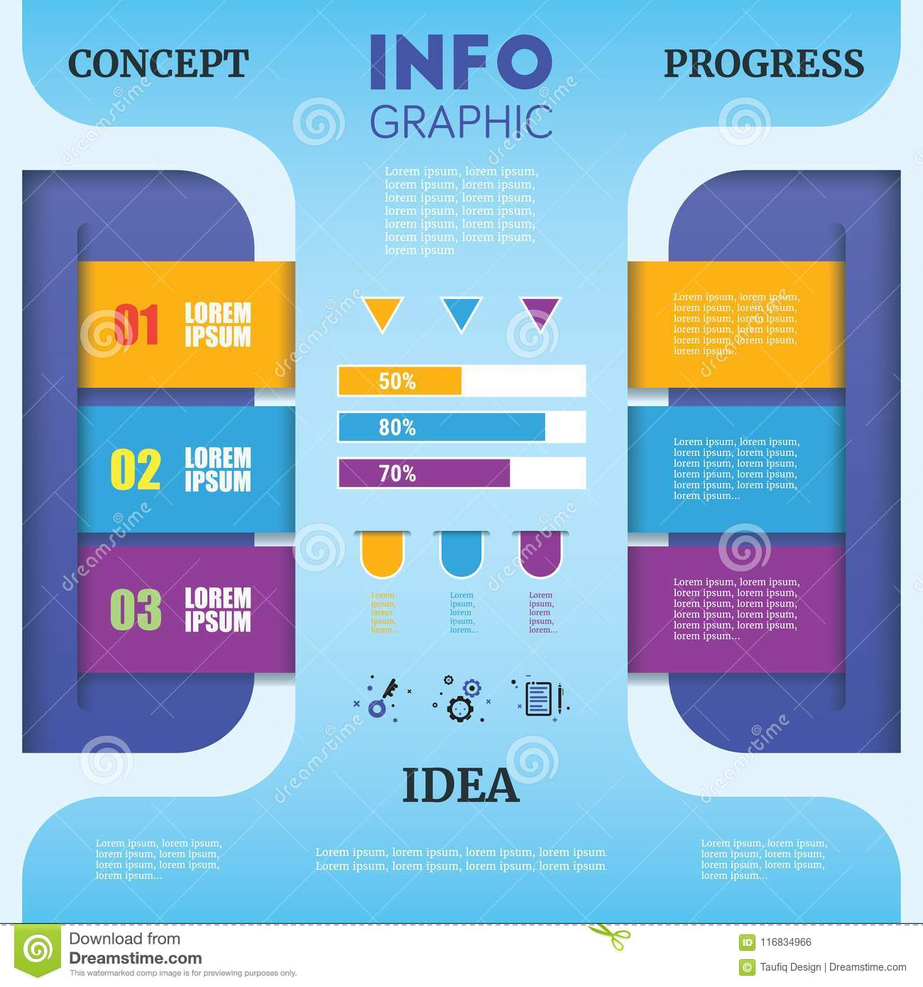 abstract timeline infographic template with colorful paper art d