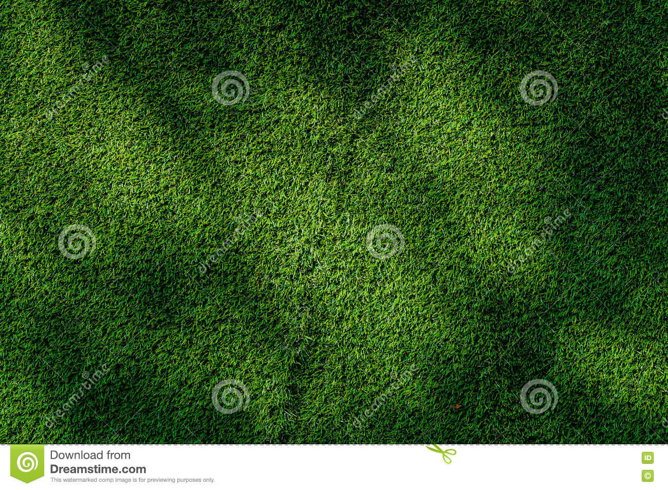 Abstract Top View Green Color Of Artificial Grass Background