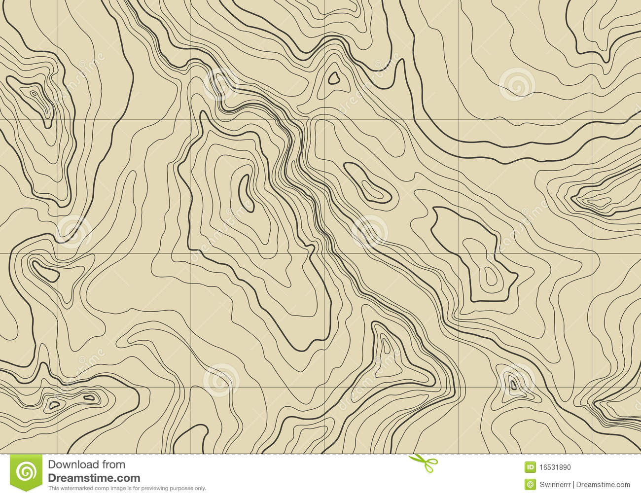 Abstract Topographic Map. Vector Stock Vector - Illustration of ...