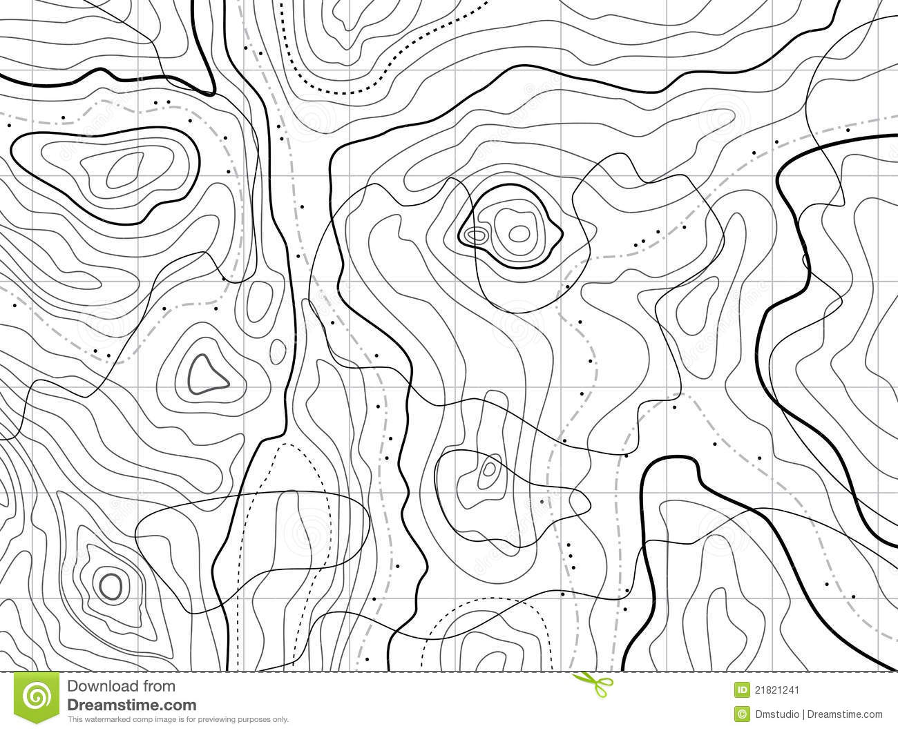 how to draw a cross section from a contour map