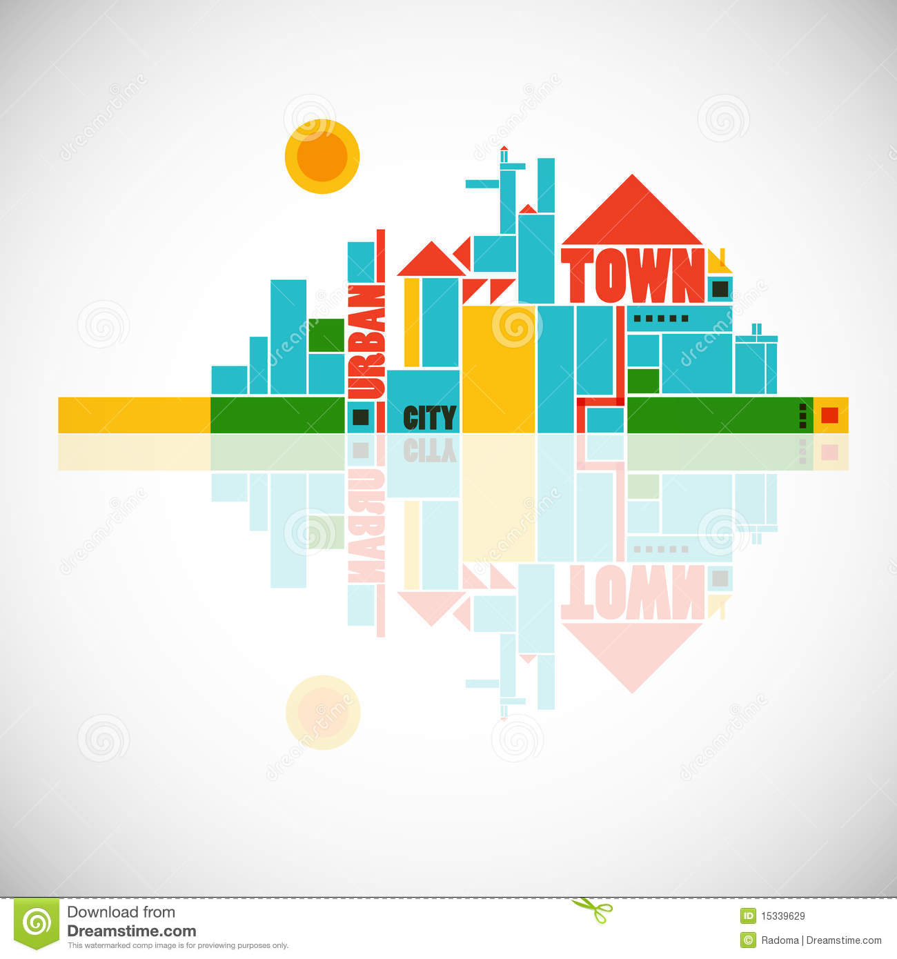 Abstract Town - Geometric Composition Royalty Free Stock Images ...
