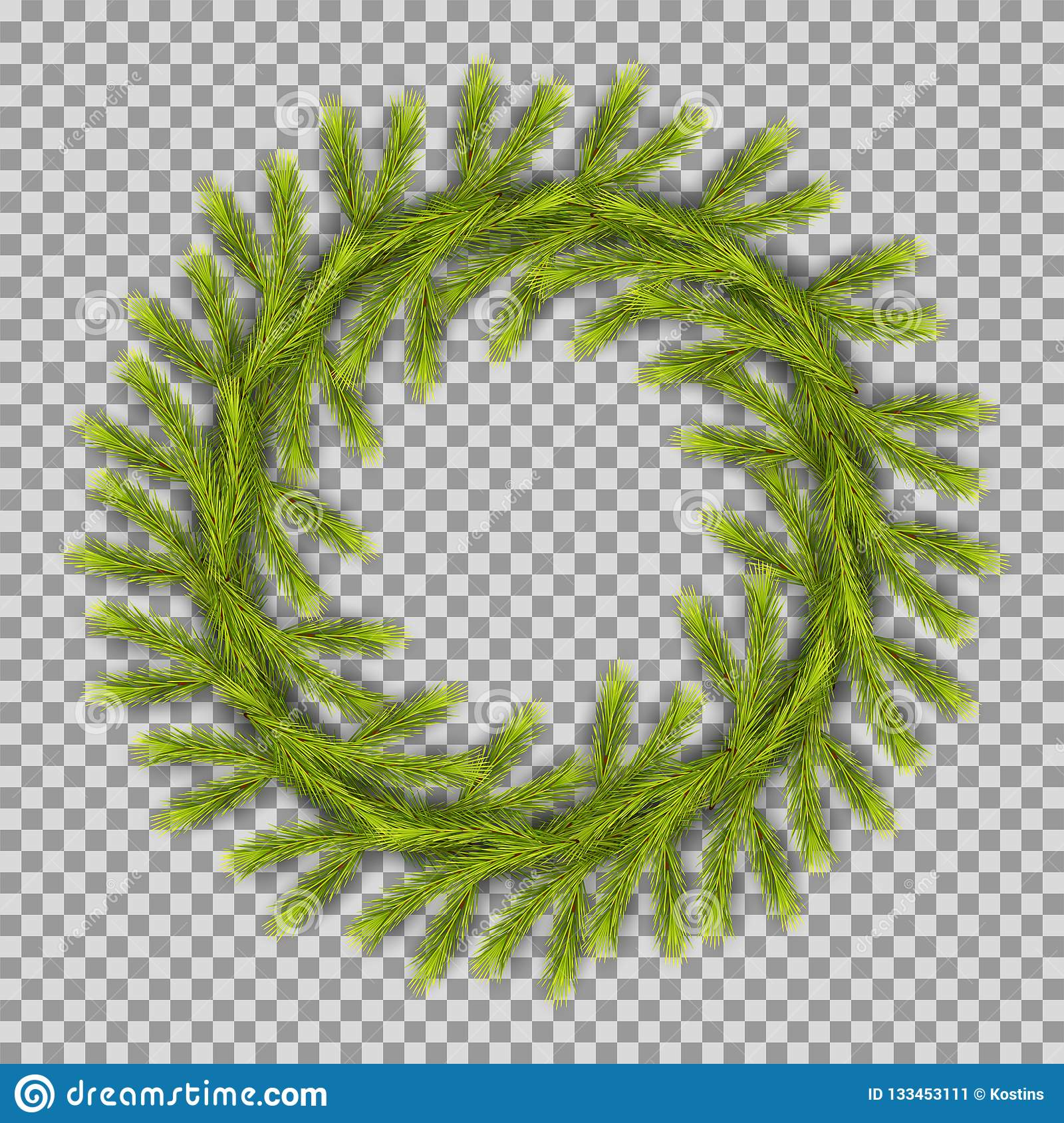 Traditional Christmas Wreath Stock Vector Illustration Of