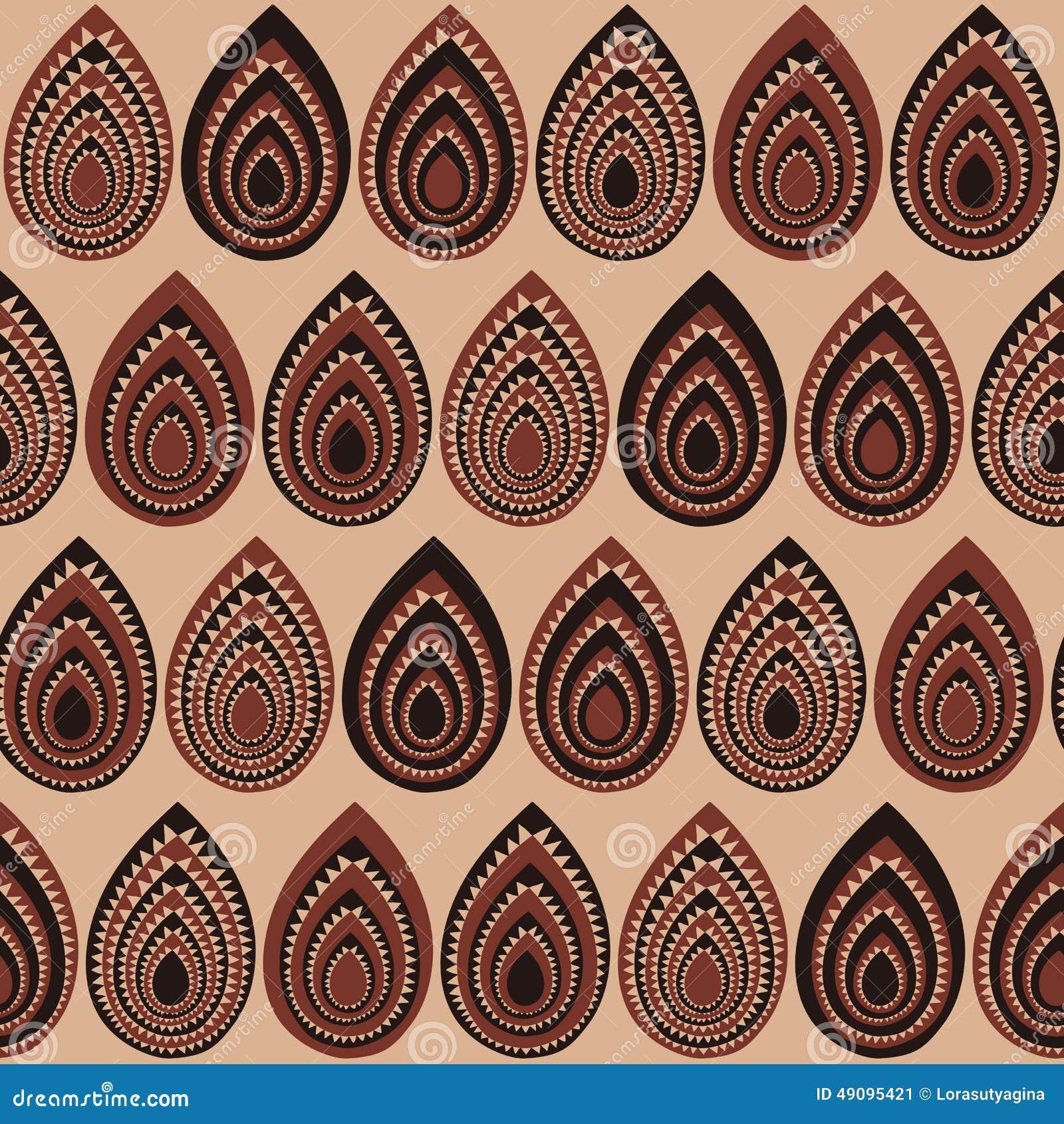Abstract Traditioneel Afrikaans Ornament Naadloos vectorpatroon