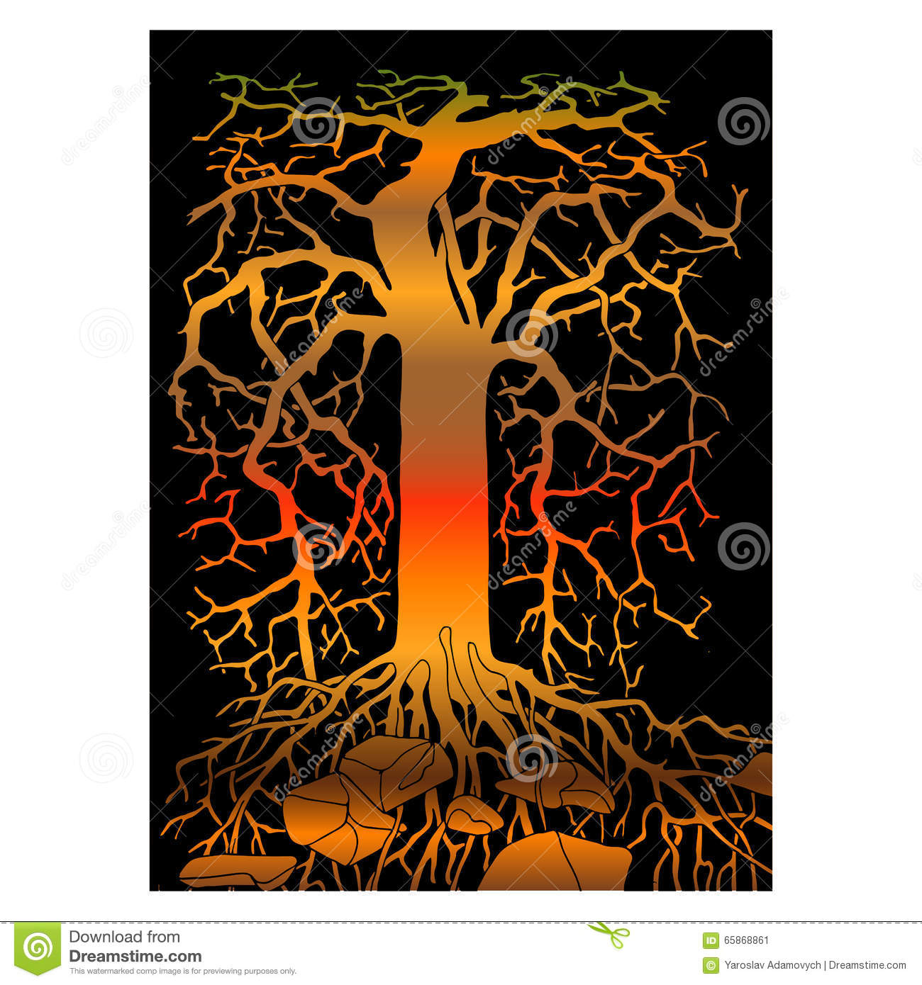 abstract tree stock vector image 65868861