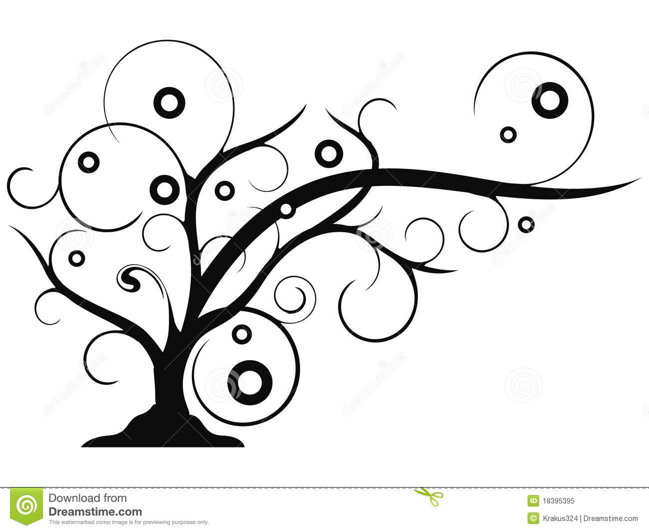 Abstract Tree Growing Clip Art Stock Vector Illustration Of Curly