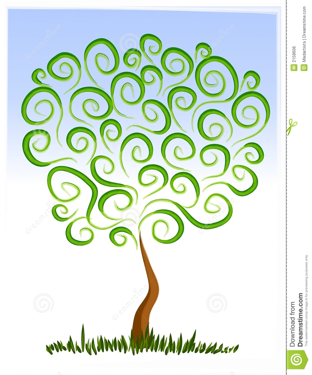 Abstract Tree Growing Clip Art Royalty Free Stock Image ...