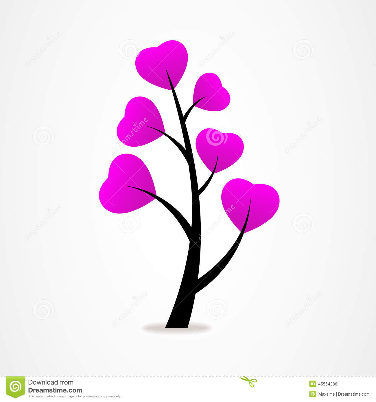 Abstract Tree Icon Logo Valentine Card Stock Vector ...