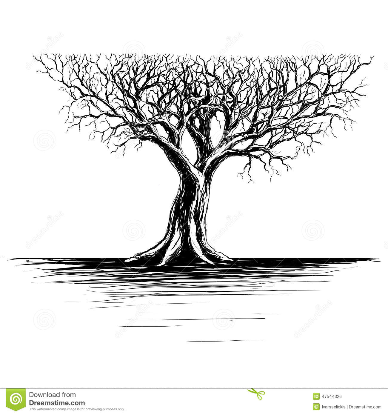 It's just a photo of Peaceful Tree Background Drawing