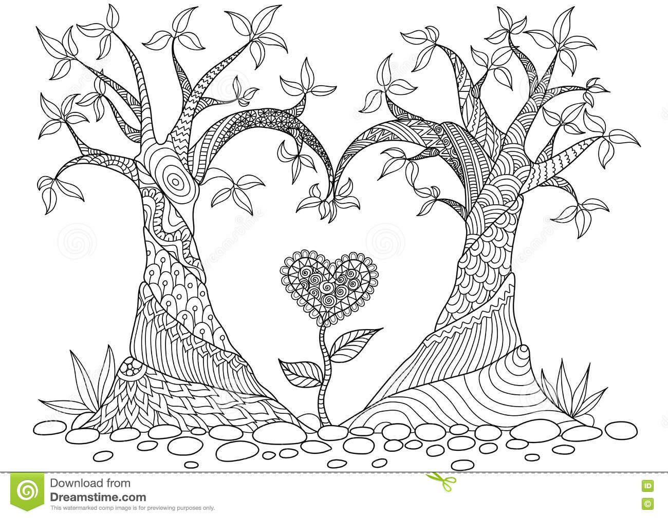 Abstract Tree Coloring Pages : Abstract shape mandala royalty free stock photography