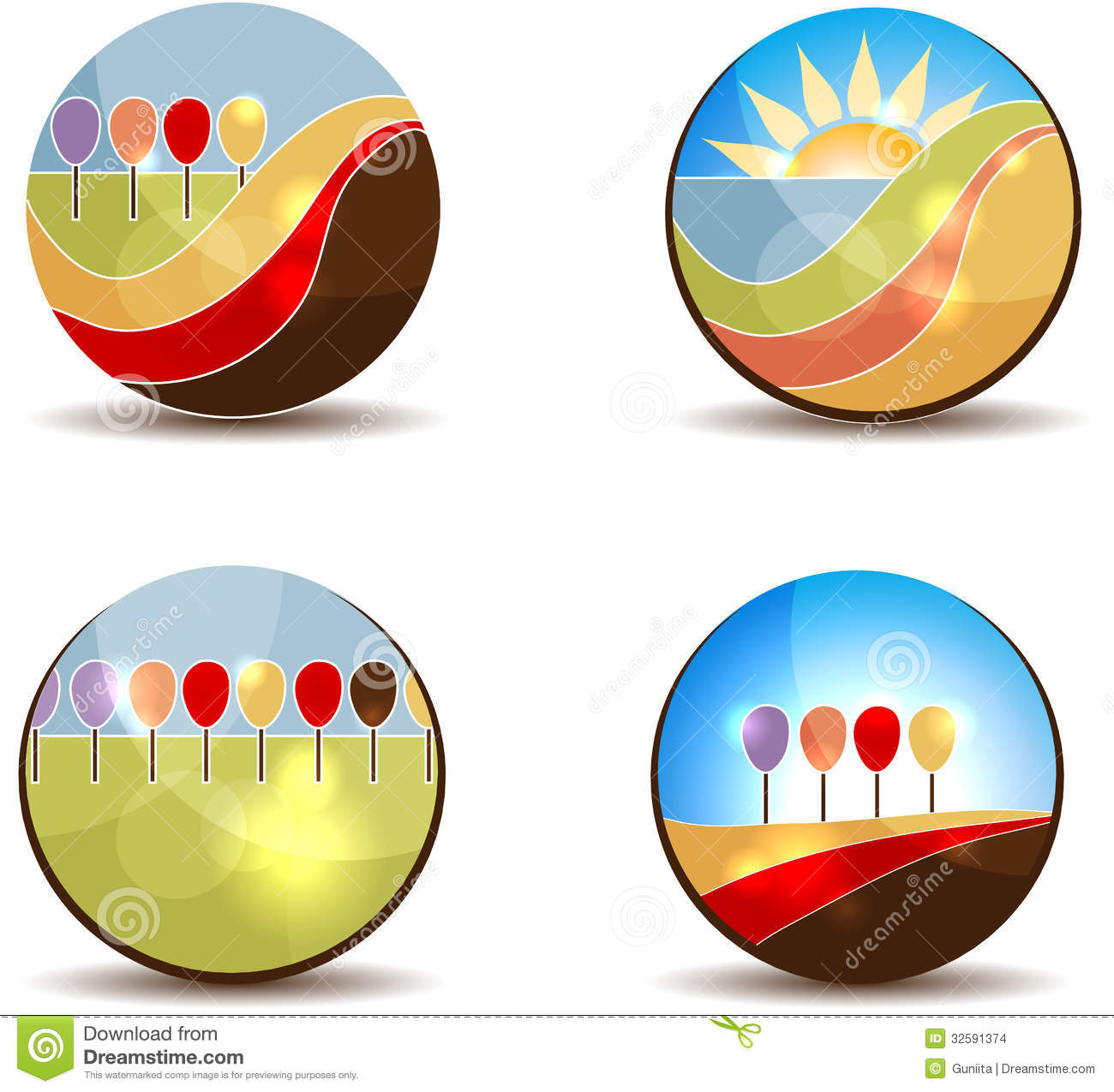 Abstract Trees Stock Images Image 32591374
