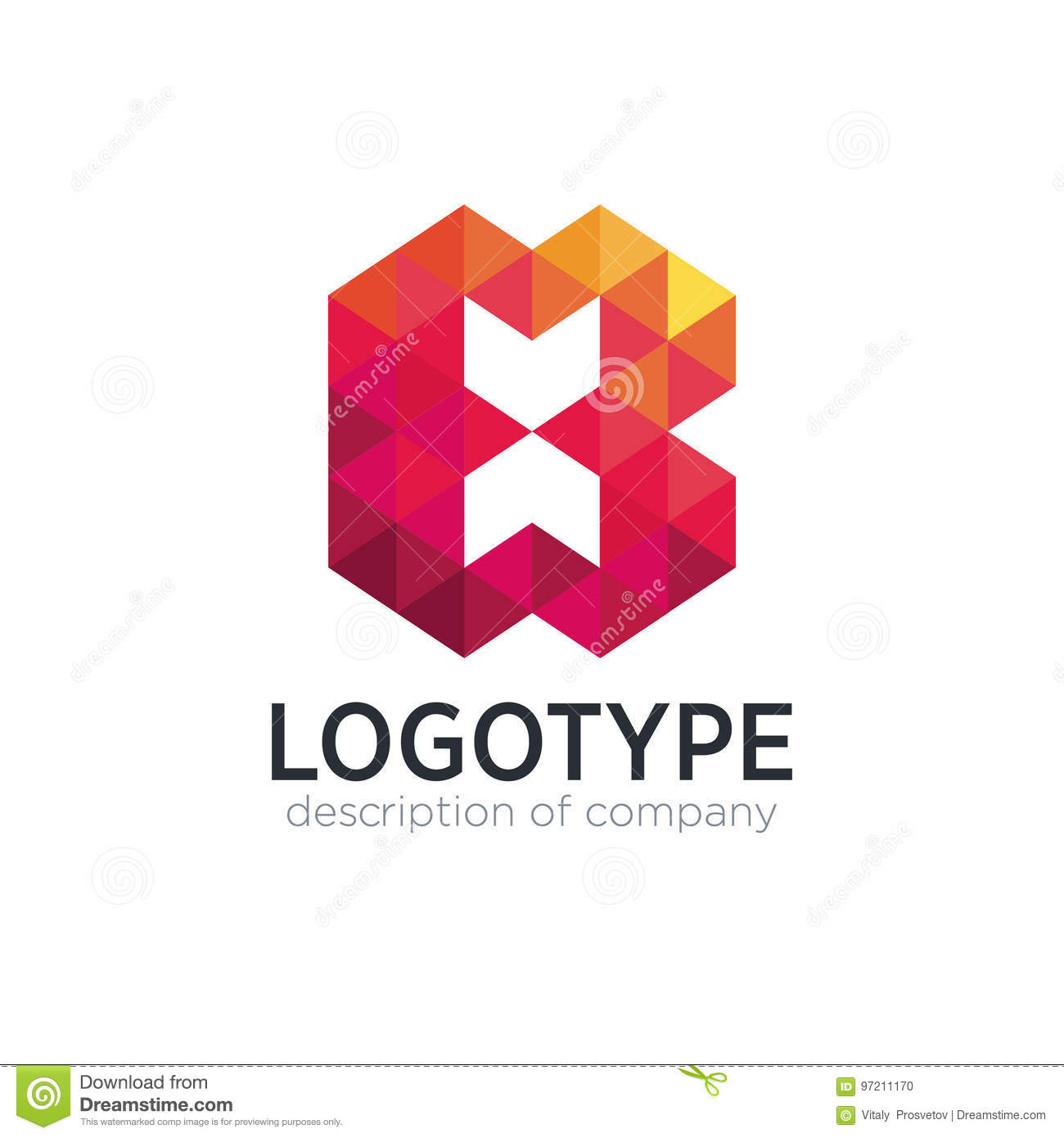 Abstract Trend Polygon Letter B Logo Design Template Stock Vector