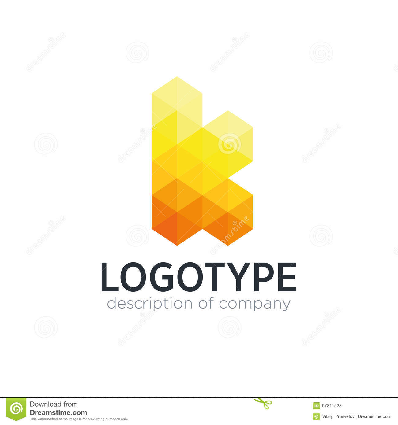 abstract trend polygon letter k logo design template