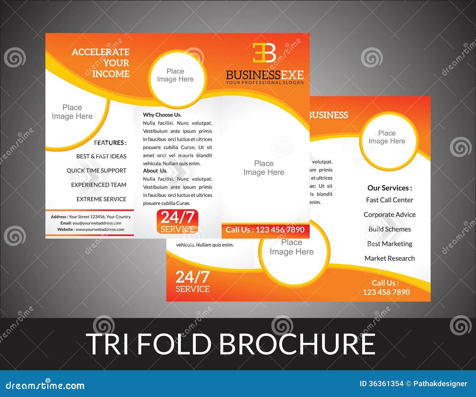 Tri-Fold Jewelry Store Brochure Stock Vector - Image: 41889030