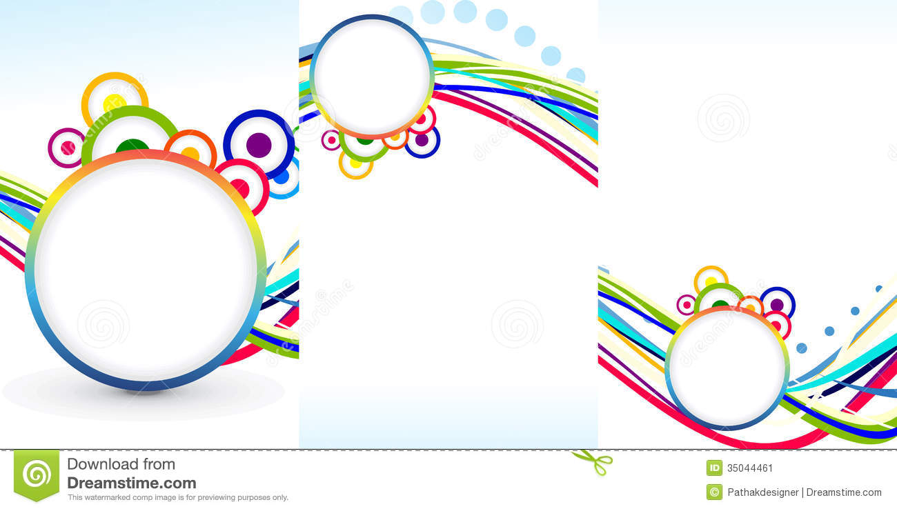 abstract tri fold brochure template fake illustration