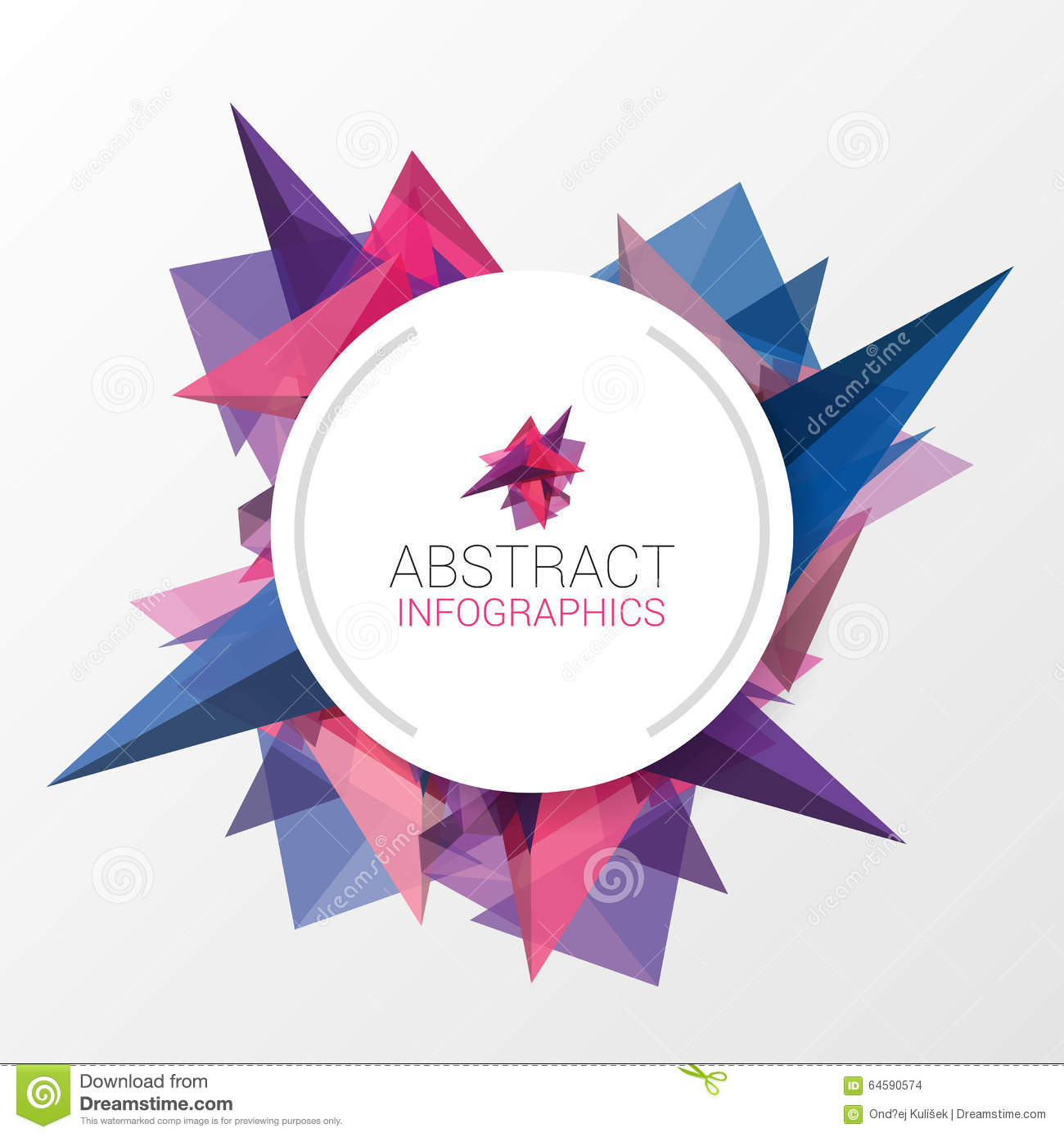 Abstract Triangle Background With Circle For Your Text