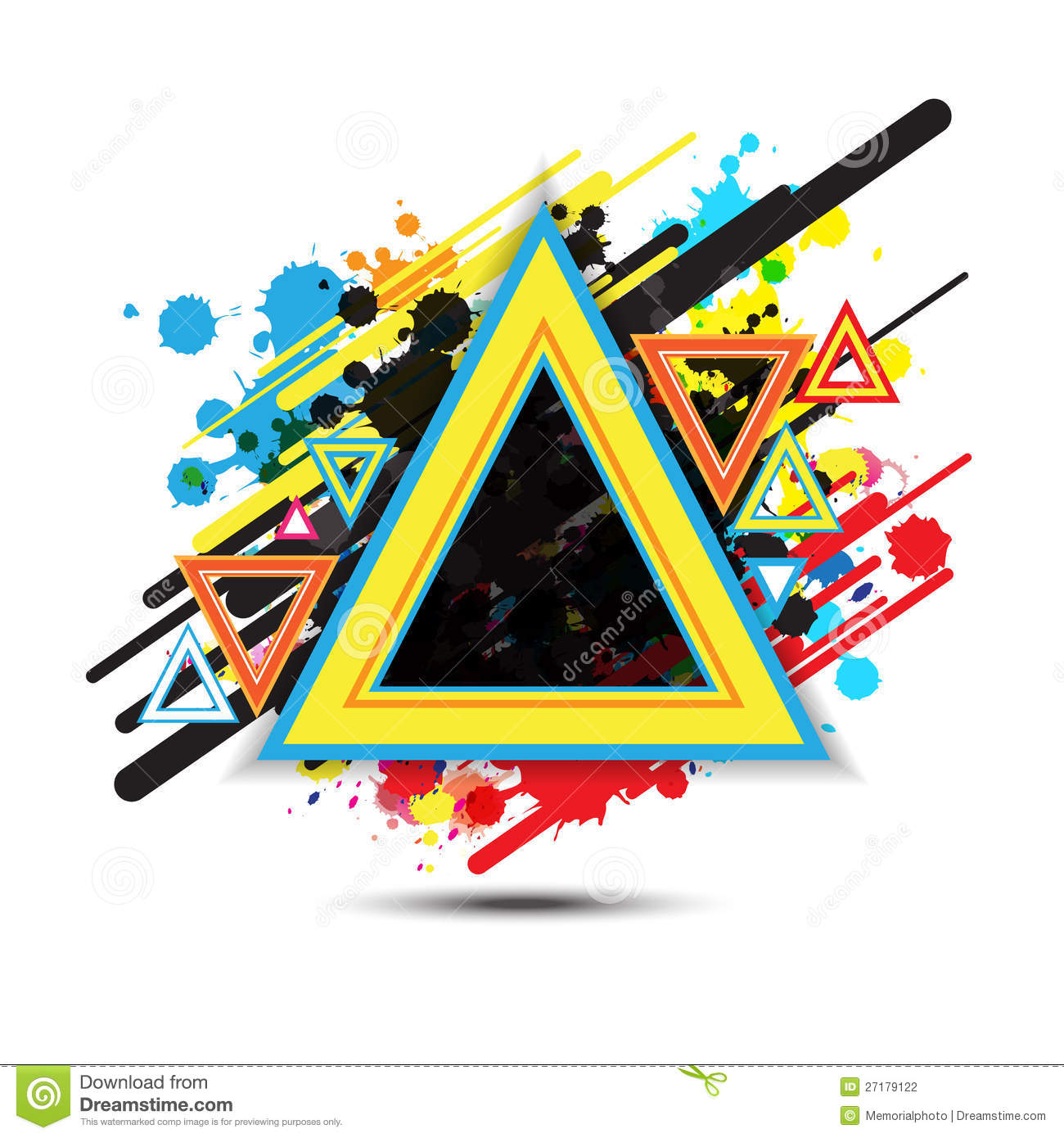 abstract triangle background design stock vector illustration of