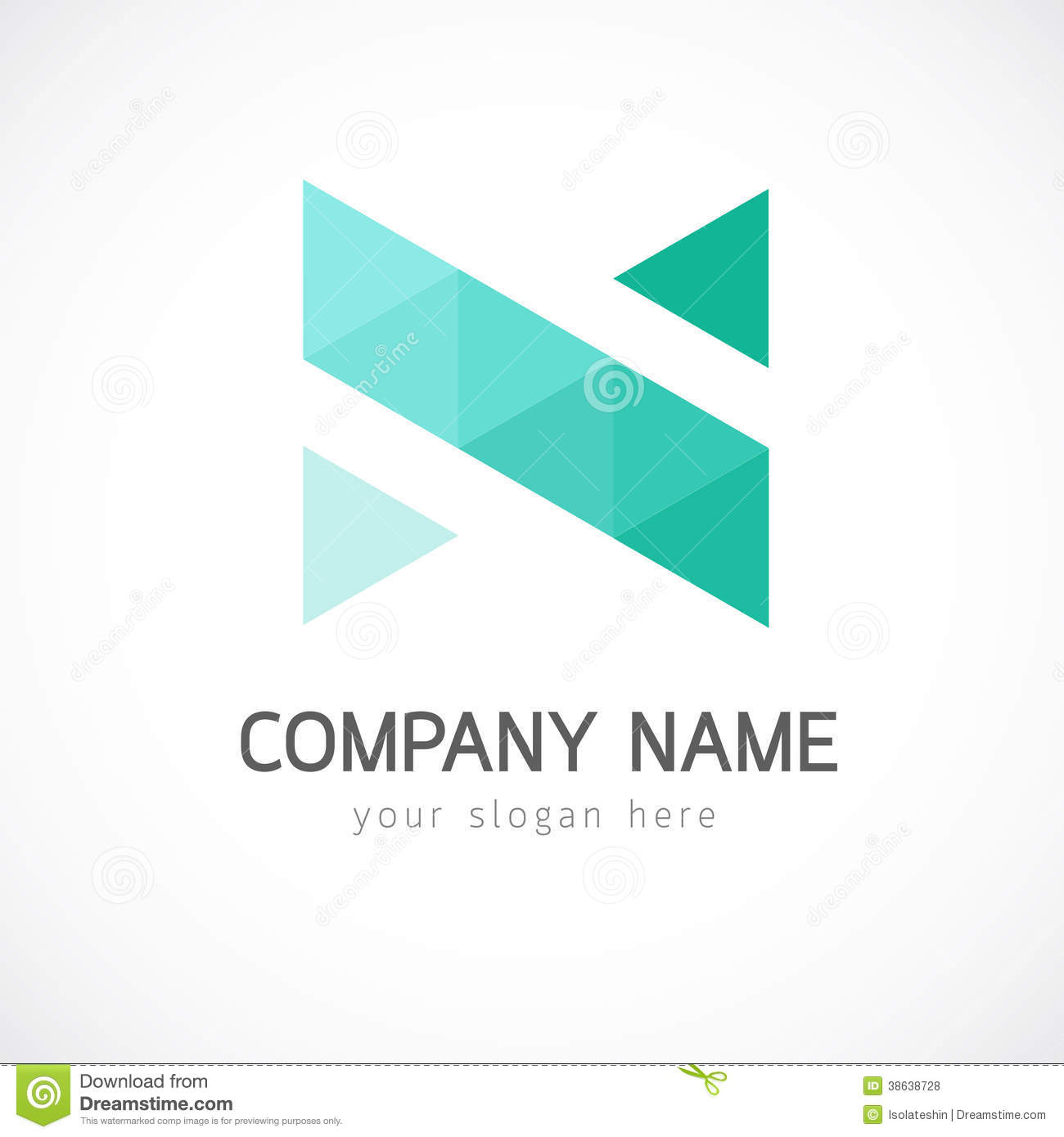 abstract triangle logo template stock photo image of template