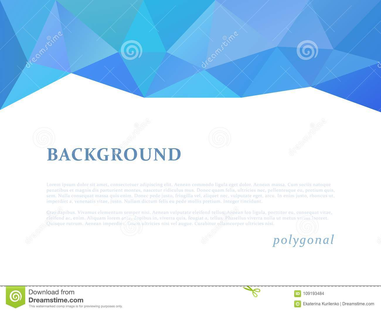 Triangle Banner Template | Abstract Triangular Banner Stock Vector Illustration Of Modern