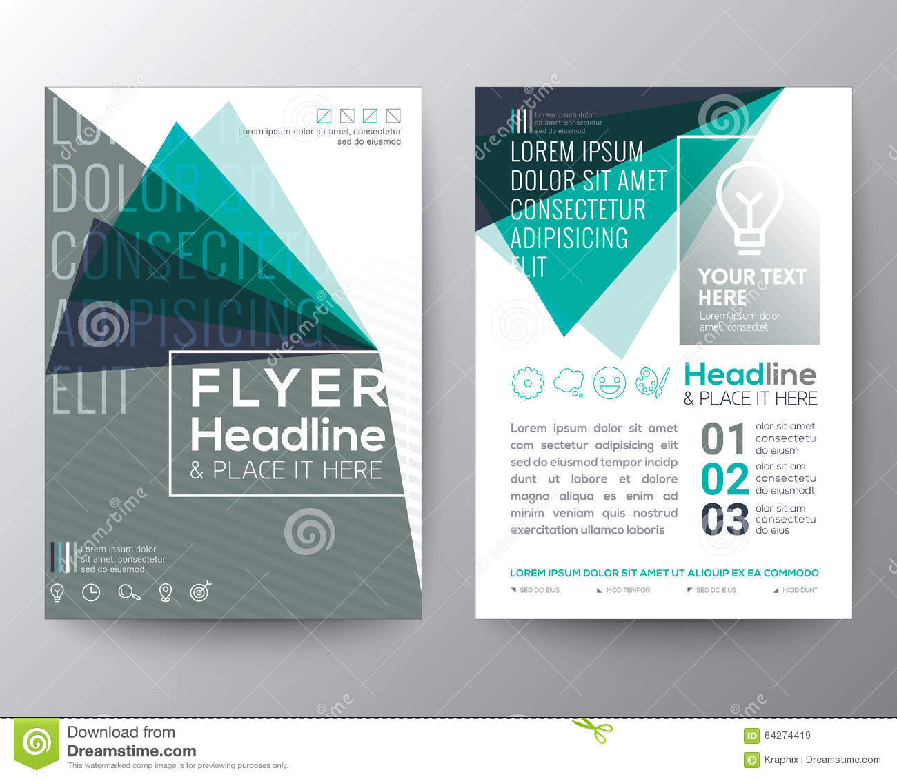 Download Abstract Triangle Shape Poster Brochure Flyer Design Layout Stock Vector