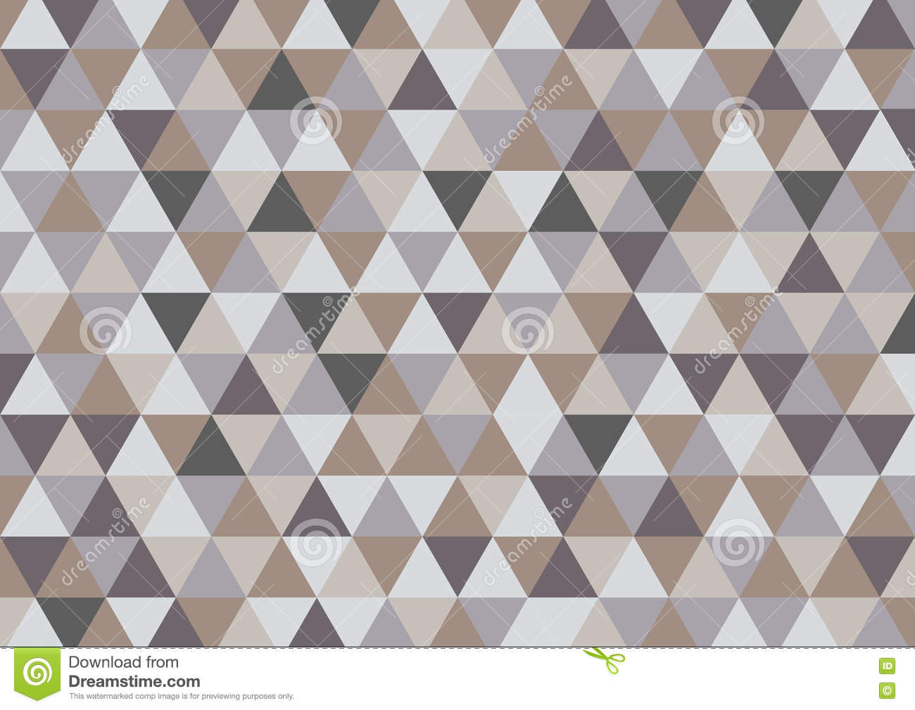 Abstract Triangle Vector Background In Grey Brown Color