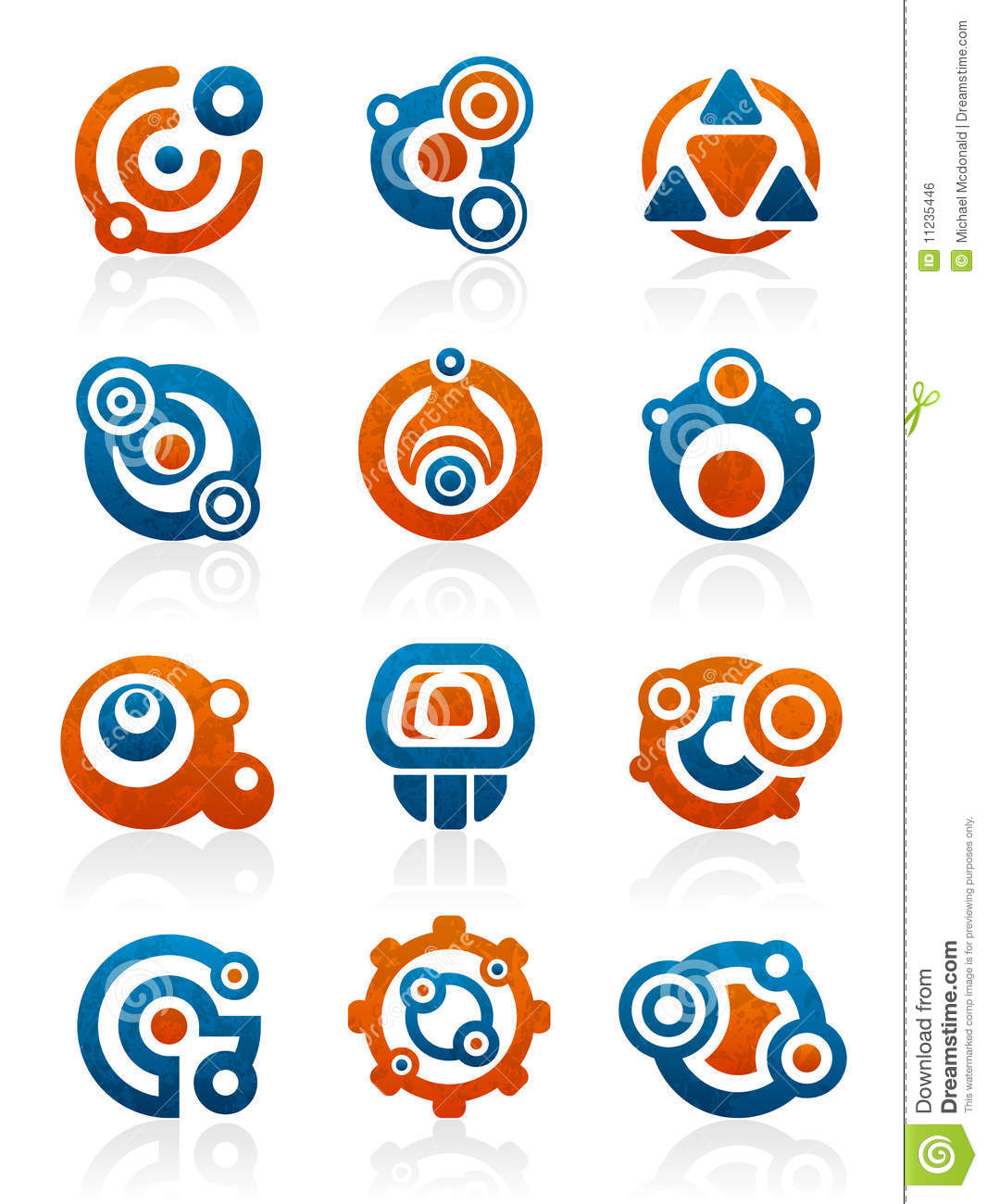 Abstract tribal icons and symbols