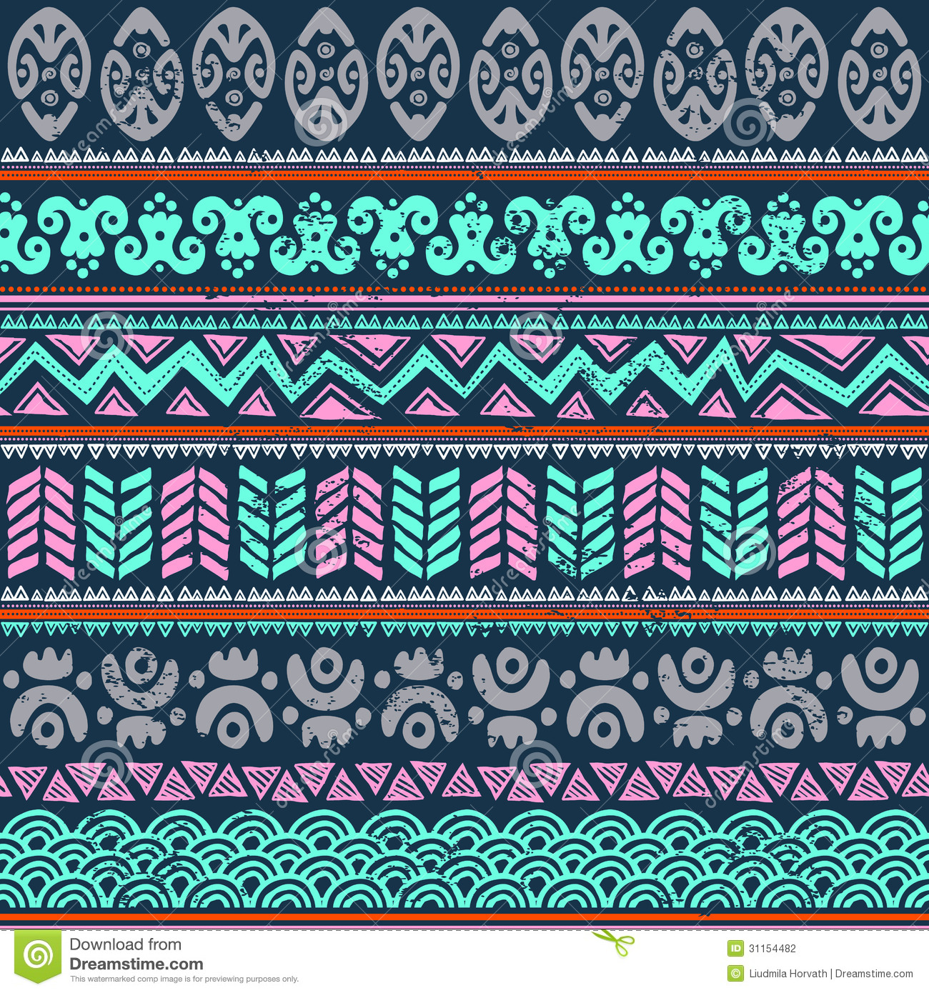 Abstract tribal pattern stock vector. Image of curve ...
