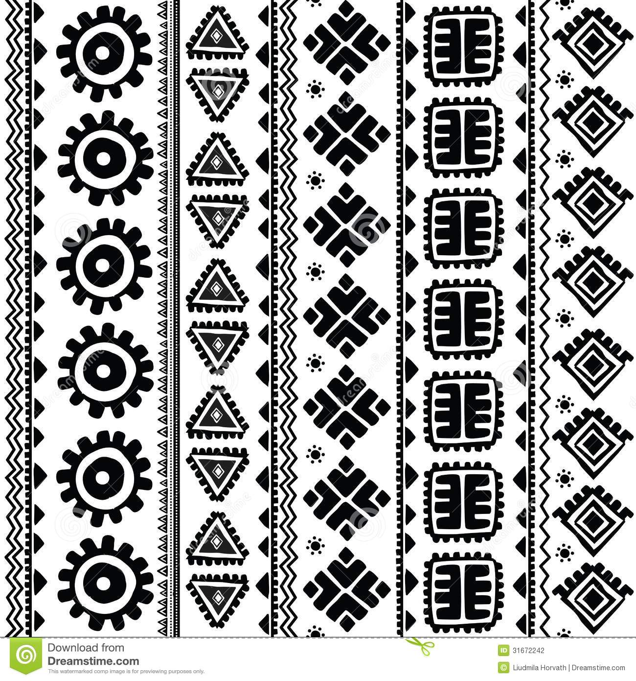 Abstract Tribal Pattern Stock Photography - Image: 31672242