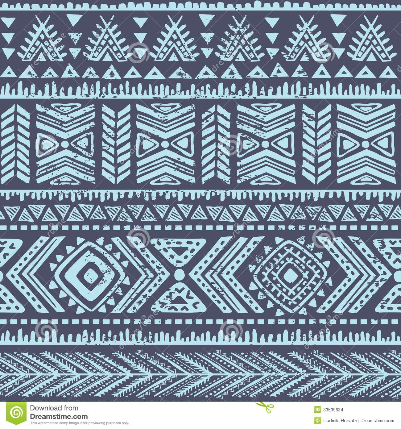 Abstract Tribal Pattern Stock Images Image 33539634