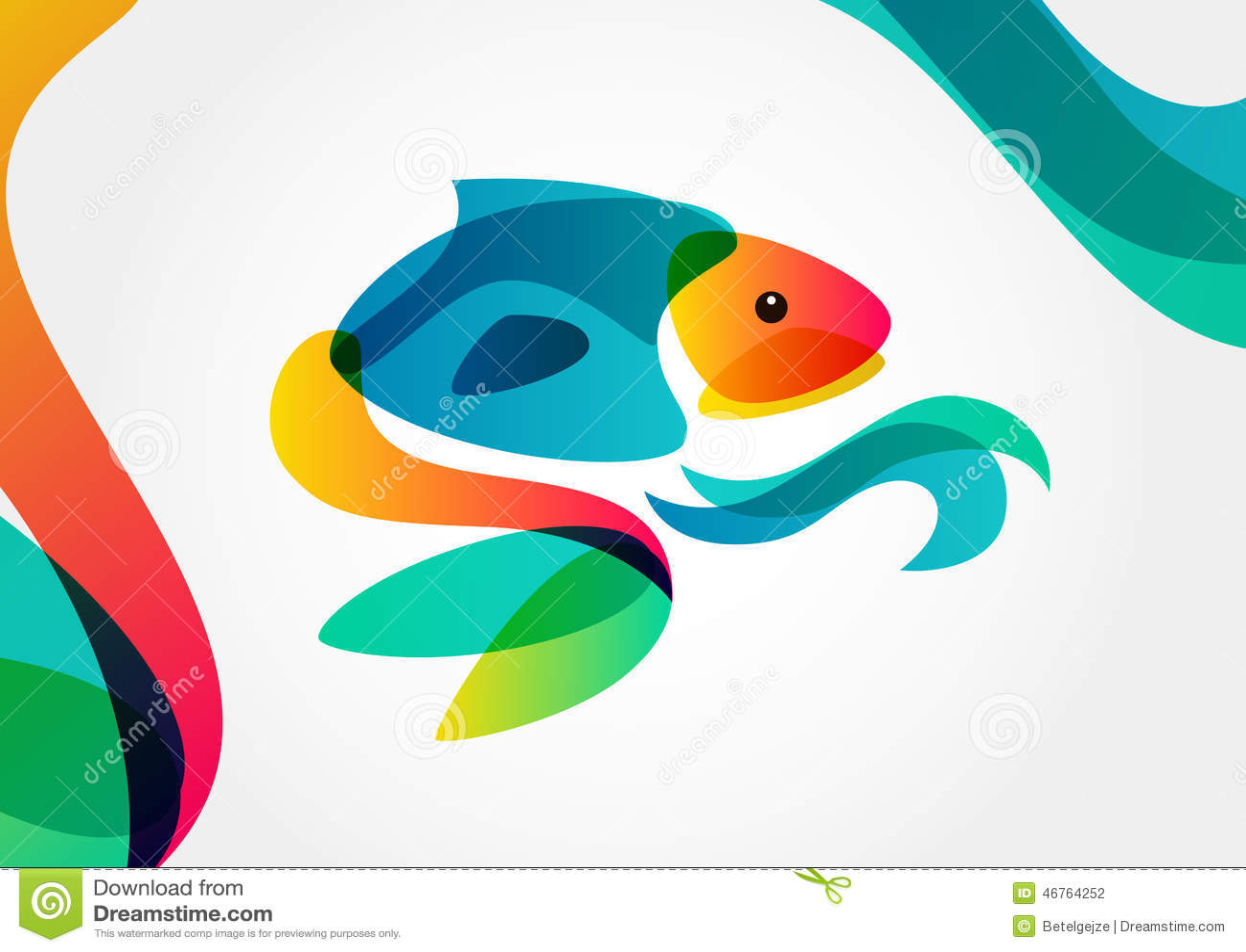 Abstract fish designs - photo#7