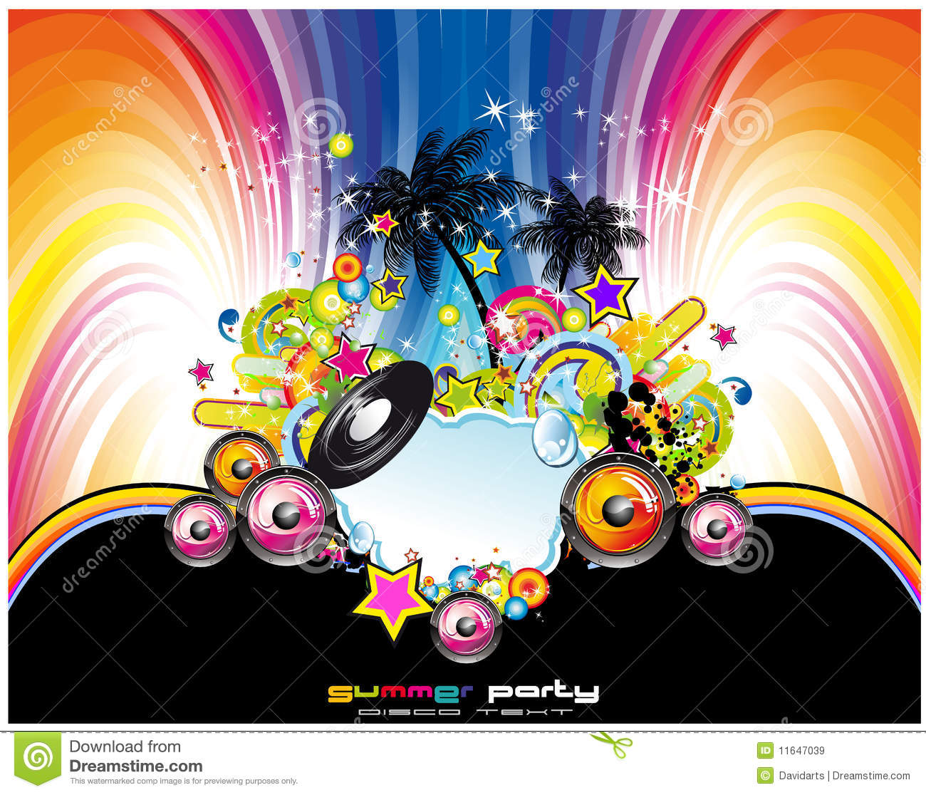 Abstract Tropical And Latin Music Event Background Royalty Free Stock ...