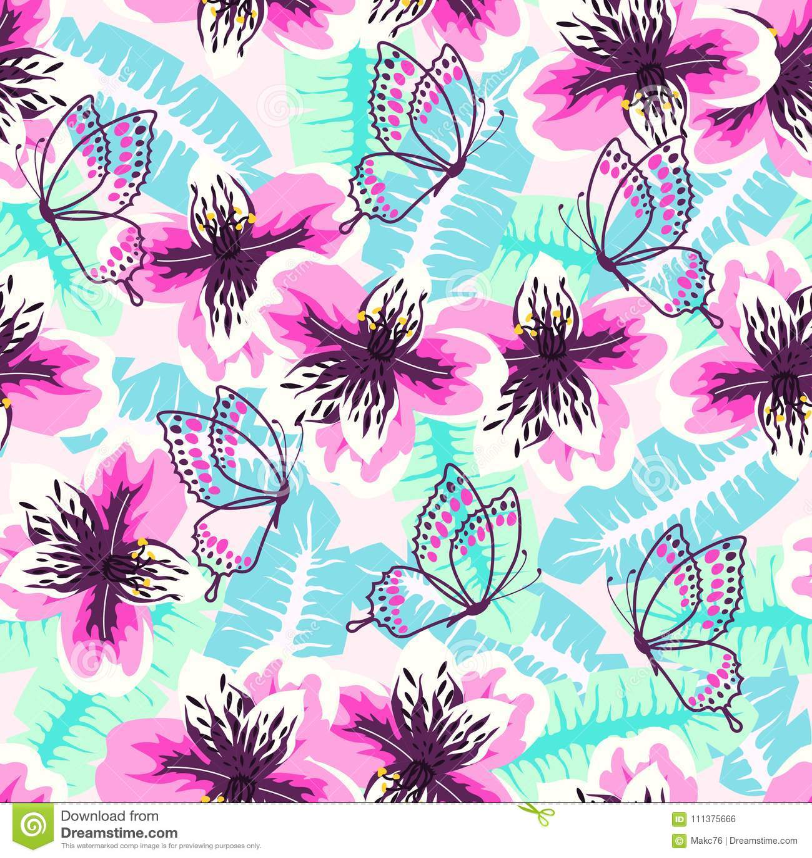 Abstract turkoois roze patroon