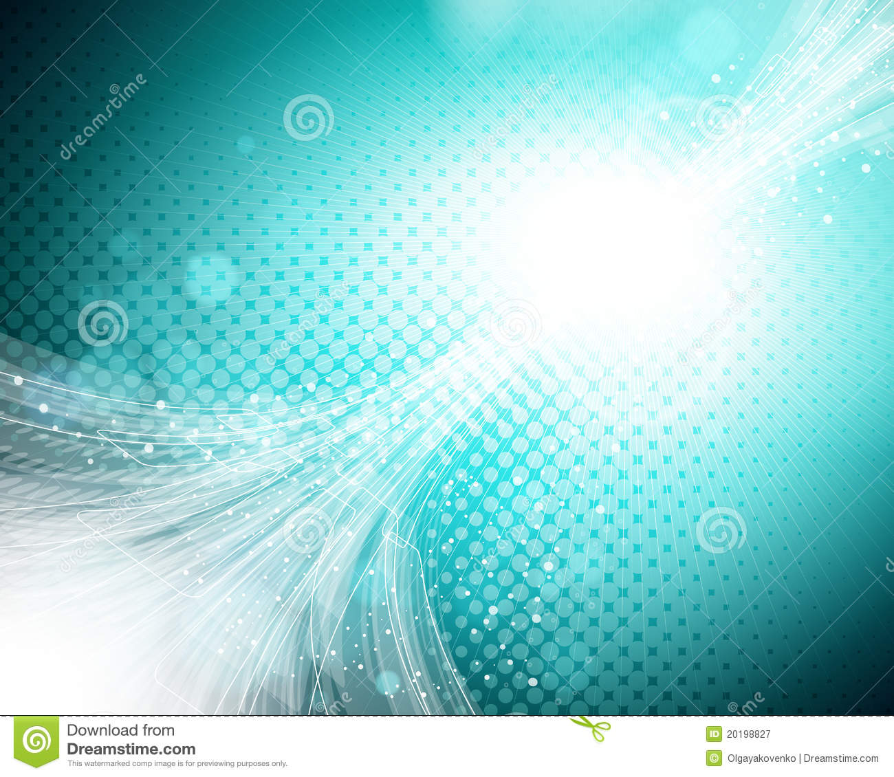 Abstract Turquoise Background. Stock Vector