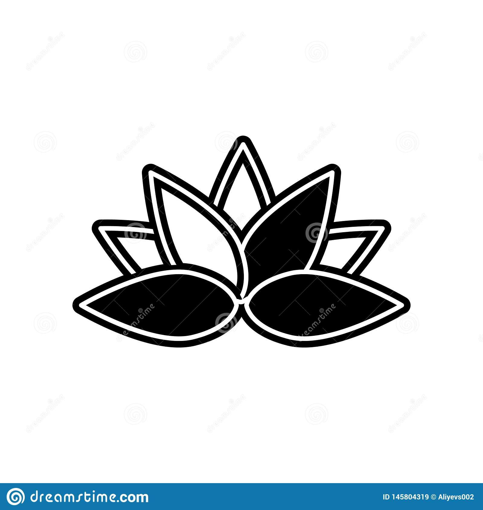 abstract type of lotus flowers icon. Element of Flower for mobile concept and web apps icon. Glyph, flat icon for website design