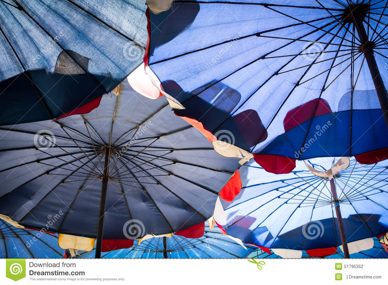 Abstract under big umbrella