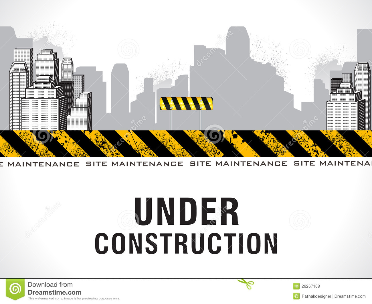 Abstract Under Construction Background Stock Vector
